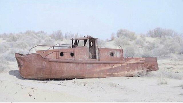 90 درصد دریاچه آرال ازبکستان خشک شده است