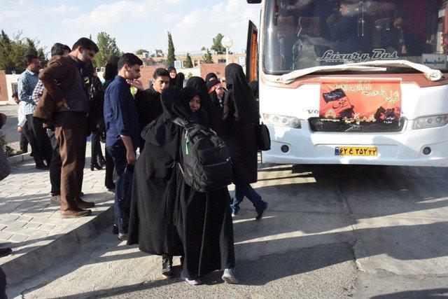 172 نفر از دانشجویان علوم پزشکی خراسان جنوبی به پیاده روی اربعین اعزام شدند