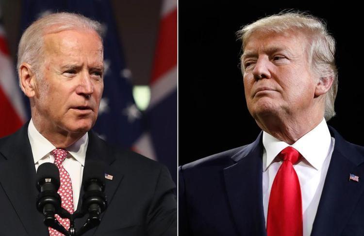 اختلاف بایدن و ترامپ در نظرسنجی ها دو رقمی شد
